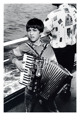 Child playing the accordion